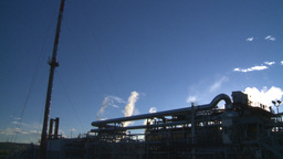 HD2008-8-1-43 gas plant Stock Video Footage
