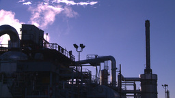 HD2008-8-1-45 gas plant Stock Video Footage