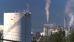 HD2008-8-1-51 gas plant Stock Video Footage
