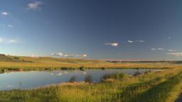 HD2008 8 1 57 prairie pond Stock Video Footage