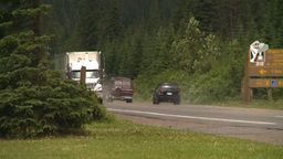 HD2008-8-1-77 highway Traffic mtns Stock Video Footage