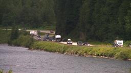 HD2008-8-2-11 heavy summer traffic summit lake Stock Video Footage