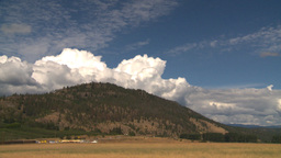 HD2008-8-2-25 Okanagan hills clouds scene Stock Video Footage