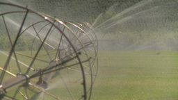 HD2008-8-2-41 farm sprinkler Stock Video Footage