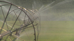 HD2008-8-2-41 farm sprinkler Stock Video Footage