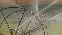 HD2008-8-2-43 farm sprinkler Stock Video Footage