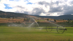 HD2008-8-2-45 farm sprinkler Stock Video Footage