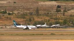 HD2008-8-2-51 taxi 737 derelict cosmos Stock Video Footage