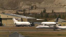 HD2008-8-2-55 Dash8 takeoff thru frame Stock Video Footage