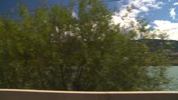 HD2008-8-2-67 drive okanagan lake Stock Video Footage