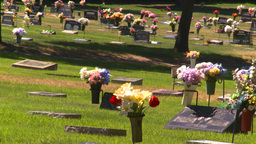 HD2008-8-3-10 cemetary Stock Video Footage
