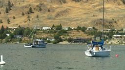 HD2008-8-3-14 Okan Lake sailboat Stock Video Footage