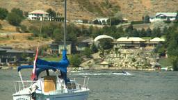 HD2008-8-3-16 Okan Lake sailboat Stock Video Footage