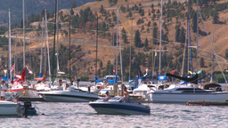 HD2008-8-3-22 Okan Lake marina Stock Video Footage