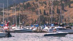 HD2008-8-3-22 Okan Lake marina Stock Video Footage
