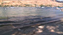 HD2008-8-3-24 Okan Lake beach Stock Video Footage