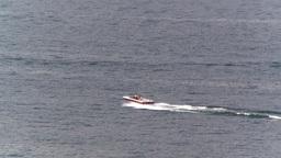 HD2008-8-3-28 Okan Lake motorboat Stock Video Footage