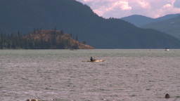 HD2008-8-4-3 Kal lake kayak Stock Video Footage