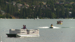 HD2008-8-4-7 Kal lake motorboat Footage