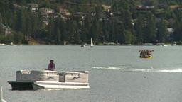HD2008-8-4-7 Kal lake motorboat Stock Video Footage