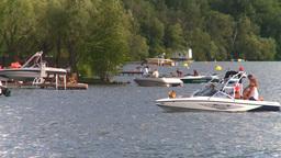 HD2008-8-4-9 Kal lake motorboat Footage