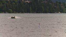 HD2008-8-4-11 Kal lake motorboat Stock Video Footage