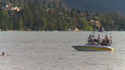 HD2008-8-4-18 Kal lake motorboat Footage