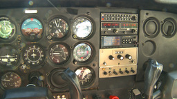 HD2008-8-5-5 C172 instrument panel Stock Video Footage