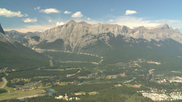 HD2008-8-5-19 aerial mountains canmore Stock Video Footage