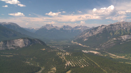 HD2008-8-5-23 aerial tunnel mtn banff Stock Video Footage