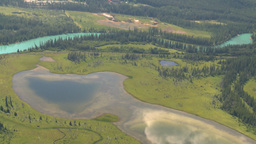 HD2008-8-5-25 aerial banff ponds Stock Video Footage