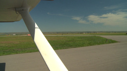 HD2008-8-5-39 aerial taxi runway Stock Video Footage
