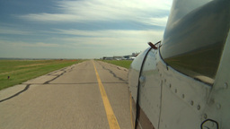 HD2008-8-7-1 runway Cessna Stock Video Footage