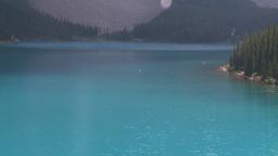 HD2008-8-7-15 canoe Moraine lake Stock Video Footage