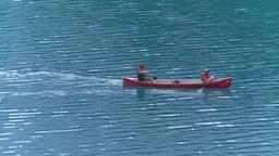 HD2008-8-7-17 canoe Moraine lake Stock Video Footage