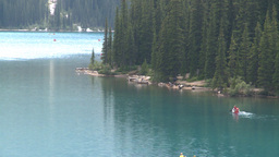 HD2008-8-7-21 canoe Moraine lake Stock Video Footage