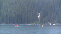 HD2008-8-7-29 canoe Moraine lake Stock Video Footage