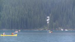 HD2008-8-7-29 canoe Moraine lake Stock Video Footage
