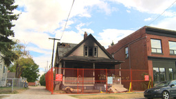 HD2008-8-8-1 arson house Z Stock Video Footage