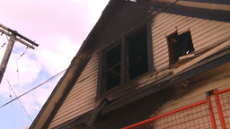 HD2008-8-8-3 arson house 2shot Stock Video Footage