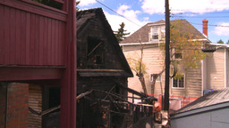 HD2008-8-8-5 arson house 2shot Stock Video Footage