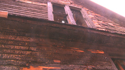 HD2008-8-8-7 arson house Stock Video Footage