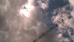 HD2008-8-8-19 TL drive up DT buildings clouds Stock Video Footage