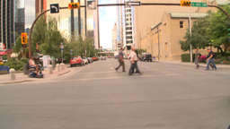 HD2008-8-8-21 drive DT buildings traffic Stock Video Footage