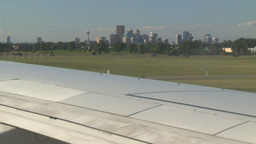 HD2008-8-9-7 Z from Cgy skyline to int jet Stock Video Footage