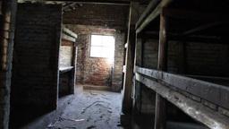 Barrack At Auschwitz Birkenau Museum stock footage