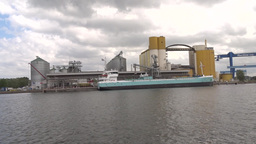 Industrial Area Near The Port And Shipyard In Gdan stock footage