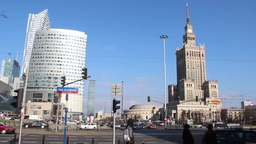 Warsaw - city center Footage