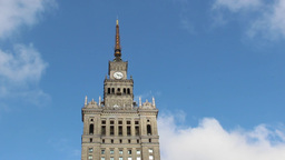 Warsaw, Poland. Palace of Culture and Science Footage