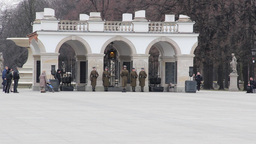 Warsaw, Poland. The Changing Of The Guards stock footage